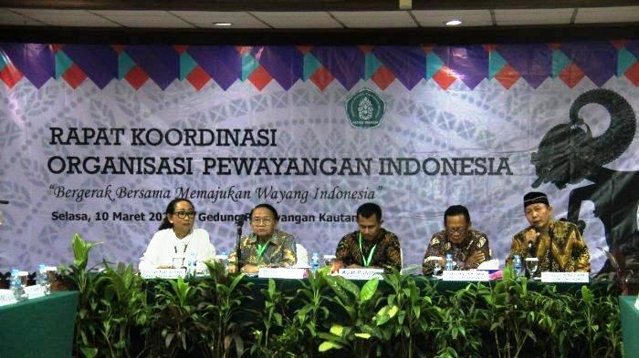 Sena Wangi Gelar Rakor Organisasi Pewayangan Indonesia Tahun 2020