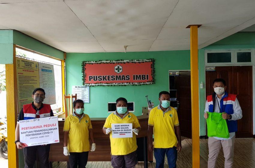 Pertamina Peduli Serahkan Bantuan Pencegahan Covid-19 di Jayapura