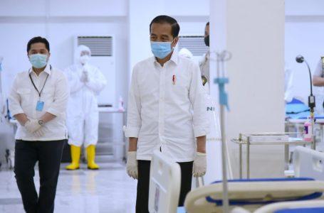 Presiden Jokowi Tinjau RS Darurat Covid-19 di Wisma Atlet, Kemayoran, Senin (23/3/2020). Foto : Setkab RI