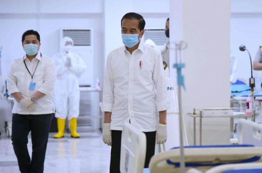 Meski Sudah Ada RS Darurat, Presiden Jokowi Berharap Pasien Covid-19 Tak Bertambah