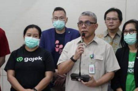 Kemenkes  menandatangani kerjasama dengan  4 unicorn yakni Gojek, Grab, Halodoc, dan Good Doctor pada Senin (23/3/2020). tentang Informasi Covid-19. Foto : Ist