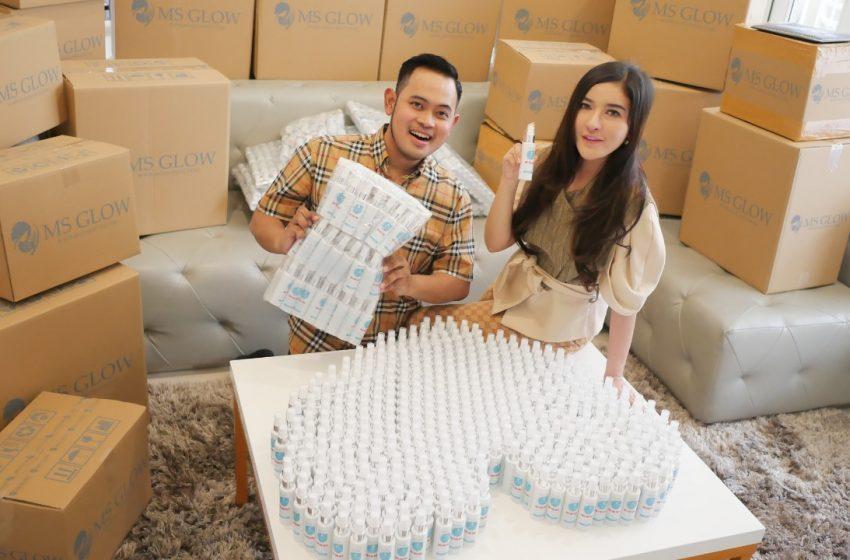 Cegah Covid-19, MS Glow Sumbang Rp 2 Miliar untuk Pembelian APD