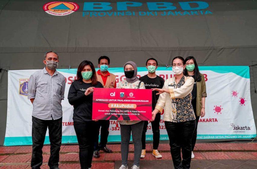 Akulaku Finance Salurkan Bantuan Alkes ke Pemprov DKI Jakarta