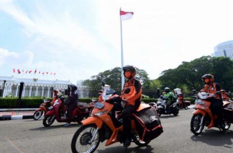 Lewat PT Pos bantuan untuk warga Jabodetabek ikut disalurkan, Senin (20/4/2020). (Foto : Ist)