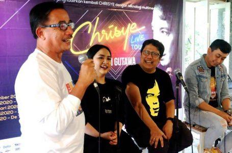 Penggagas #K2C yang juga seorang politisi, Ferry Mursyidan Baldan, memberi keterangan tentang video kenangan 13 tahun kepergian Chrisye. (Foto : Ist)