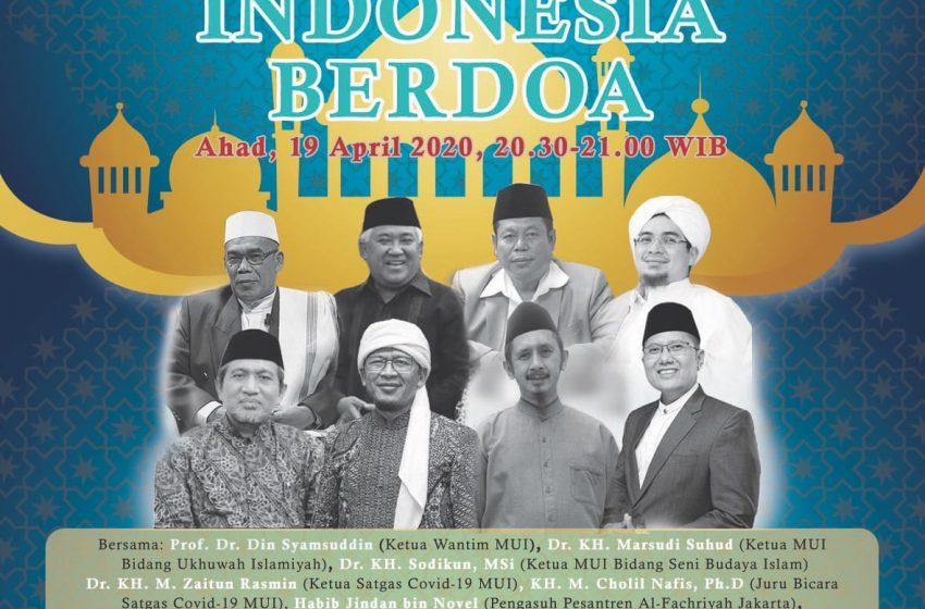 MUI Gelar Indonesia Berdoa, Permohonan Selamat dari Wabah Corona