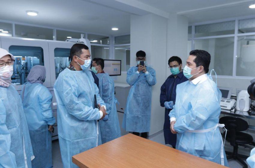 Erick Thohir Tinjau Persiapan Laboratorium Deteksi Covid-19