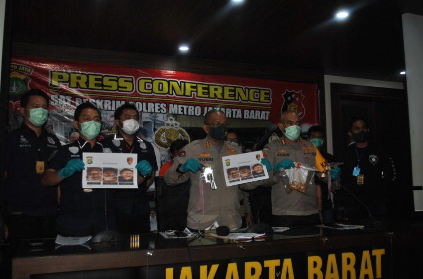 Polres Metro Jakarta Barat Berhasil Bekuk Perampok Emas Kembangan