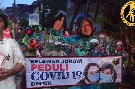Relawan Jokowi Peduli Covid-19 Depok (RJPC-19), peduli dan sosialiasikan bahaya Covid-19. (Foto : Husnie)