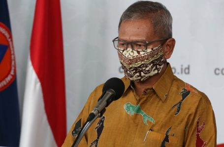 Achmad Yurianto, saat konferensi pers di Graha BNPB, Jakarta, Selasa (7/4/2020). (Foto : Humas BNPB)