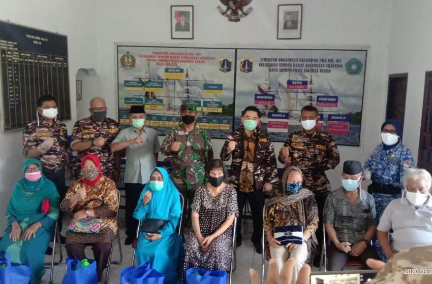 PT KCN Bersama FKKPI Jakarta Utara Salurkan Bansos Ke 7 Komplek TNI POLRI