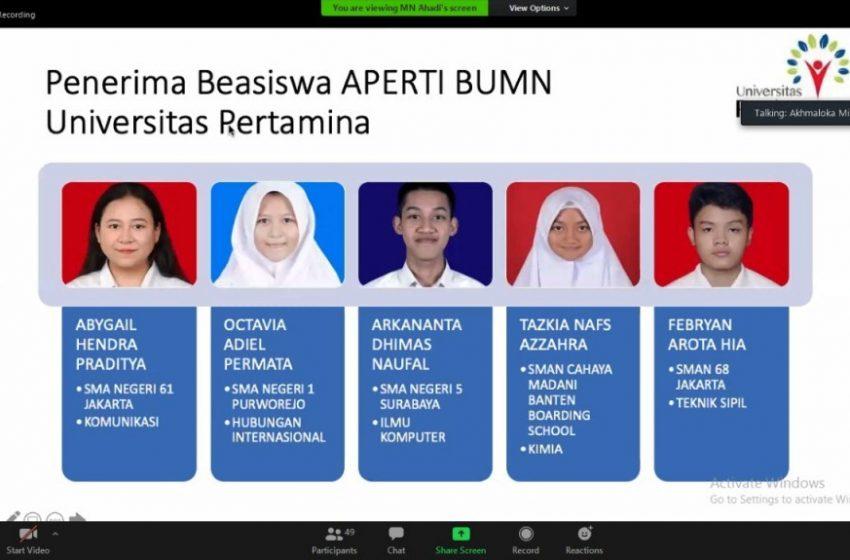 Untuk Memajukan Pendidikan Indonesia, APERTI BUMN 2020 Umumkan Kepada 40 SMTA Penerima Beasiswa APERTI BUMN