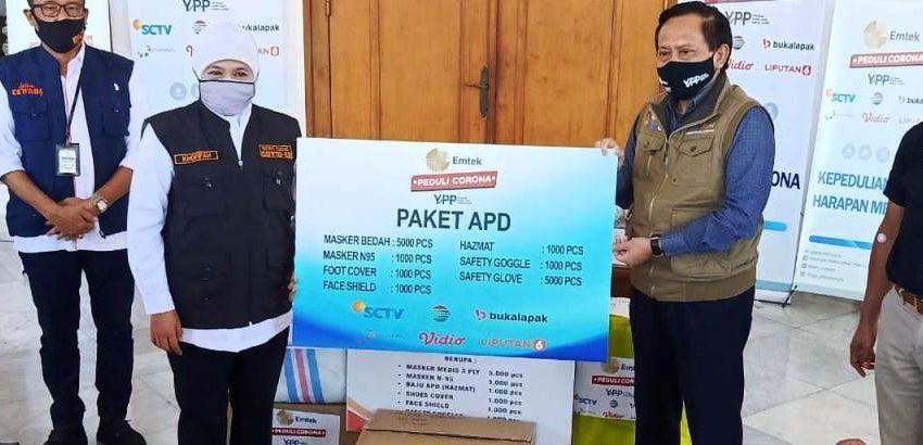 YPP Serahkan Bantuan Paket APD Ke Pemprov Jawa Timur