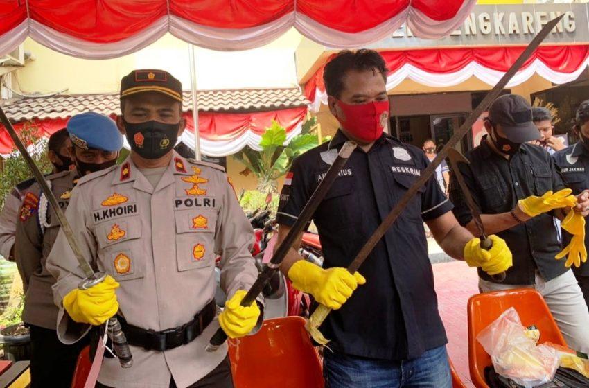 14 Anggota Geng Begal Make Muke Diringkus Polsek Cengkareng