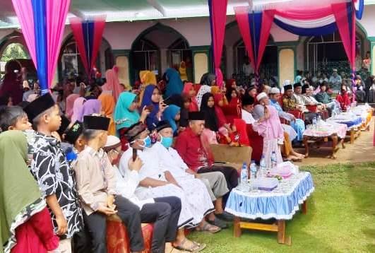 Sambut Tahun Baru Islam 1442 H, Desa Gunung Mekar Lampung Timur Gelar Santunan Anak Yatim Piatu Di PonPes Miftahul Huda Gunung Mekar, Lampung Timur