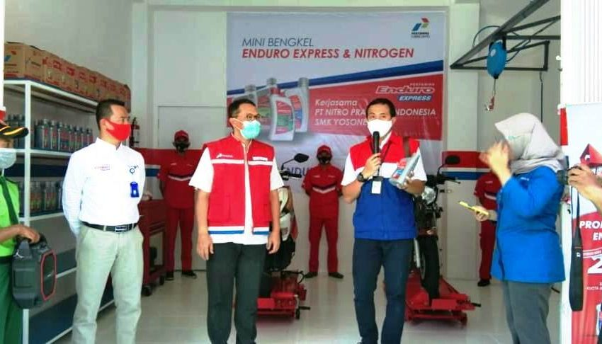 PT Pertamina Lubricants Gelar Pelatihan Pelumas dan Nitrogen Sambil Meluncurkan Enduro Express di SMK Yosonegoro Magetan