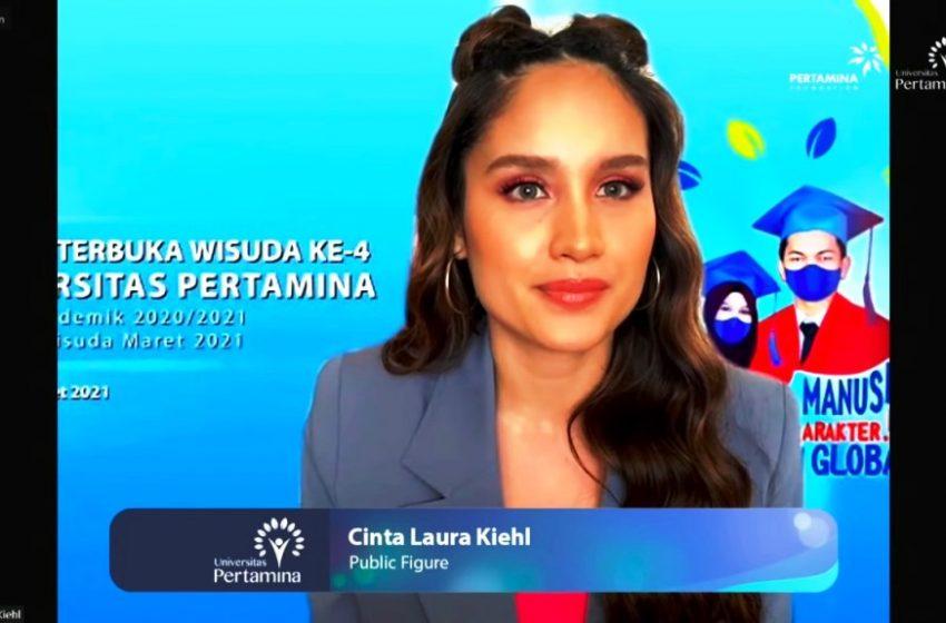 Cinta Laura Beri Tips Lulusan Universitas Pertamina Harus Inovatif Dan Kreatif