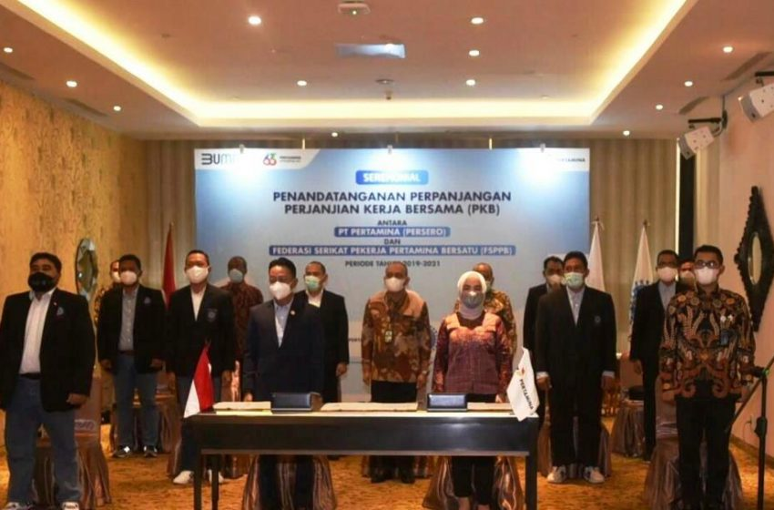 Pertamina Dan FSPPB Resmi Perpanjang Perjanjian Kerja Bersama