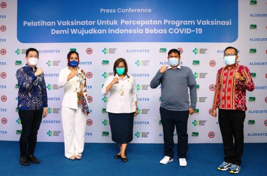ALODOKTER – ALOMEDIKA Berkolaborasi Dengan Dinkes, Puslatkesda Dan IDI Dukung Percepatan Pogram Pelatihan Vaksinator Di Indonesia