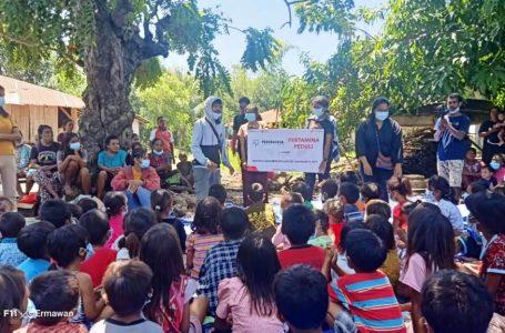 Tim Ekspedisi Seroja dan Relawan Melakukan Aktivitas Motorik Bersama Anak-anak Penyitas Bencana di NTT