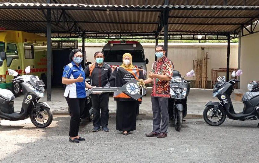 Nakes RSUD Pare Kediri Terima Bantuan  5 Unit Yamaha Lexy