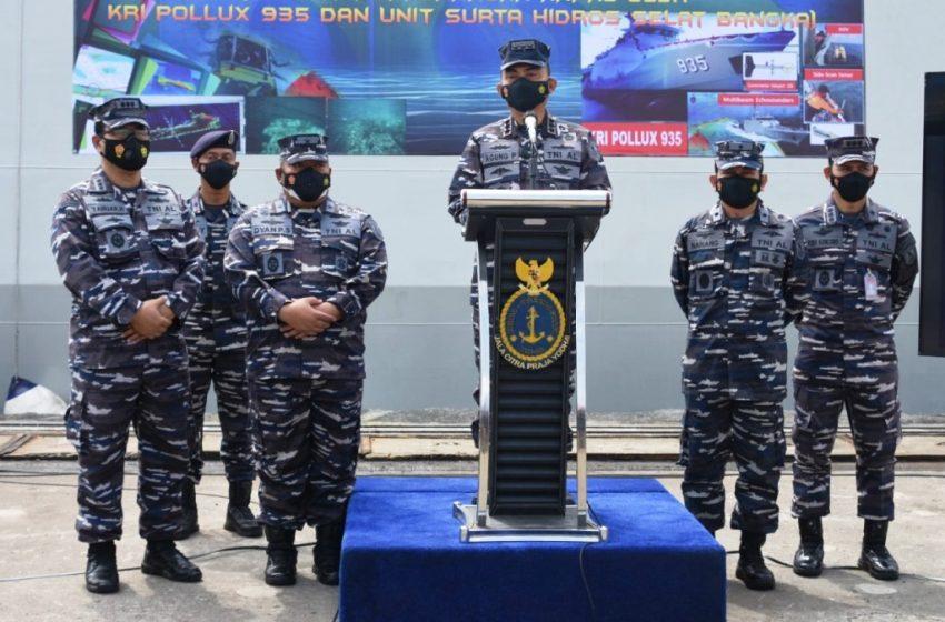 PUSHIDROS TNI AL Temukan Bahaya Keselamatan Navigasi Dan Pelayaran Di Selat Bangka